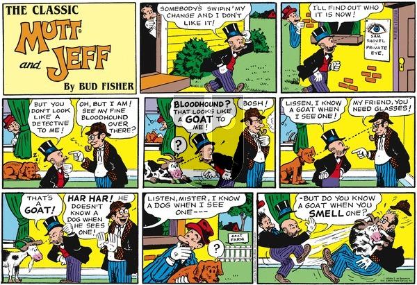 Mutt & Jeff on November 25, 2018 Comic Strip