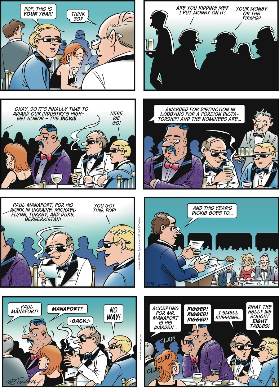 Doonesbury Comic Strip for January 13, 2019
