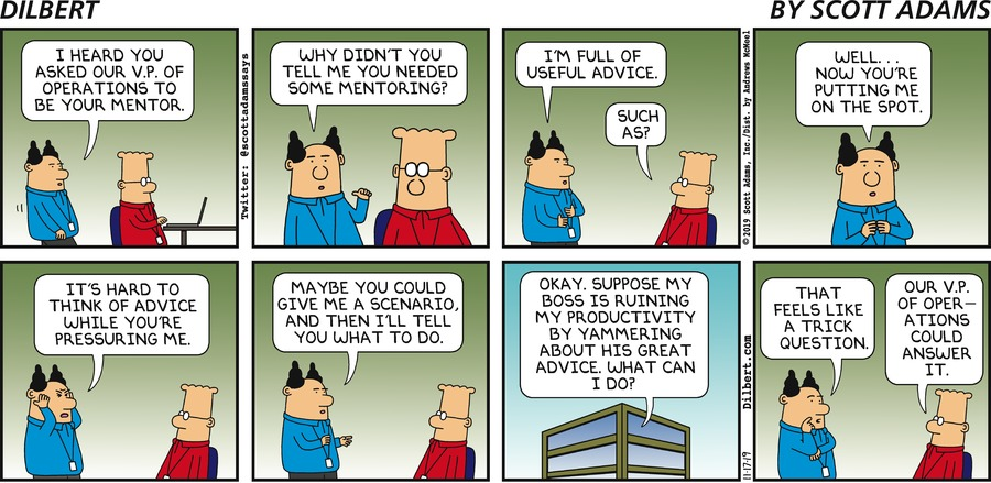 Dilbert Gets A Mentor - Dilbert by Scott Adams