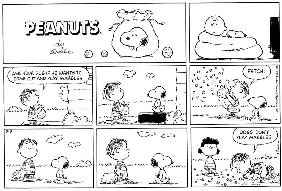 Peanuts Comic Strip for March 05, 1995