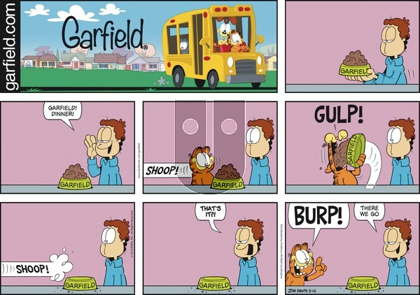 Garfield on Sunday May 12, 2019 Comic Strip