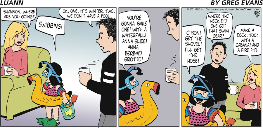 Luann Comic Strip for January 17, 2021