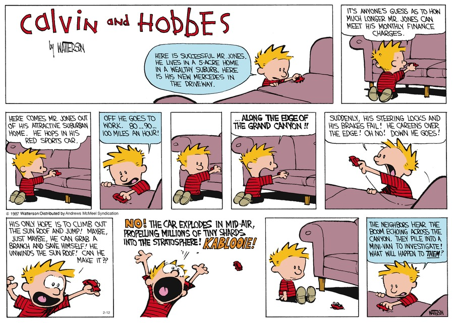 Calvin and Hobbes Comic Strip for February 12, 2017