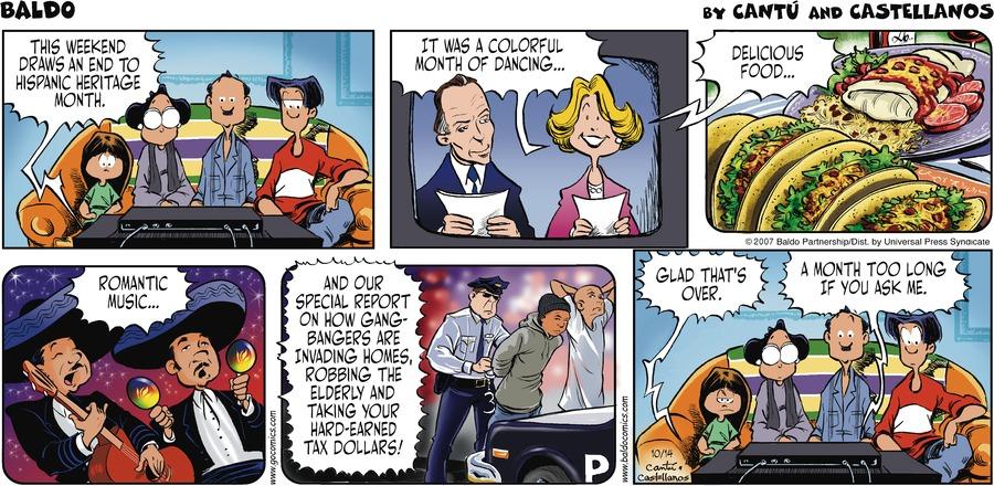 Baldo for Oct 14, 2007 Comic Strip