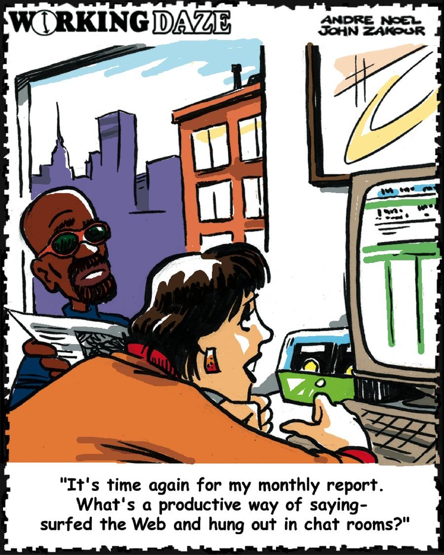 Working Daze for Feb 24, 2002 Comic Strip