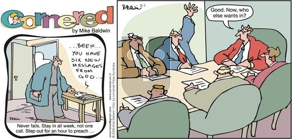 Cornered on Sunday February 1, 2009 Comic Strip
