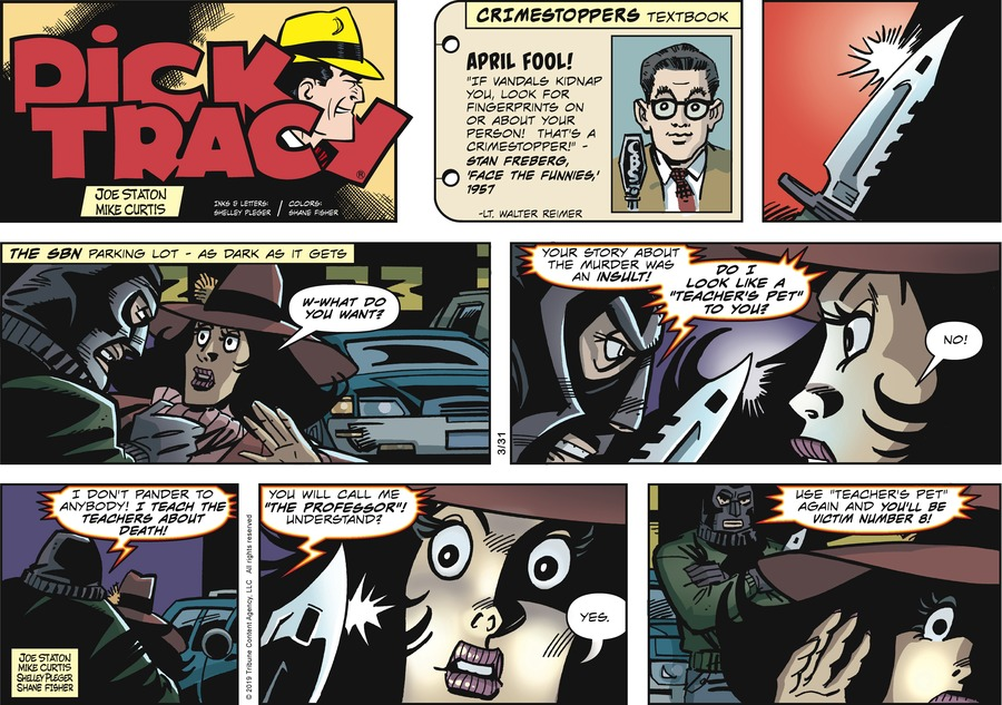 Dick Tracy Comic Strip for March 31, 2019