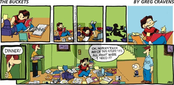 The Buckets on Sunday March 8, 2015 Comic Strip