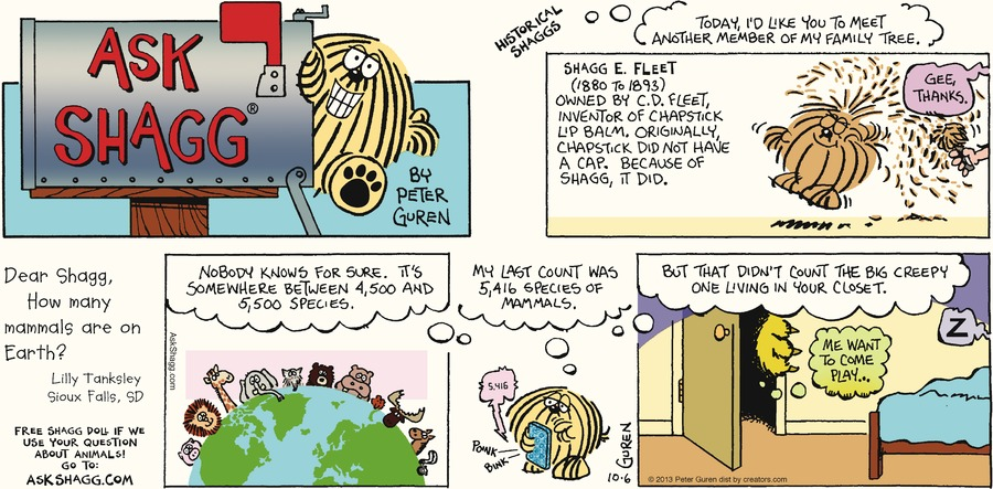 Ask Shagg for Oct 6, 2013 Comic Strip