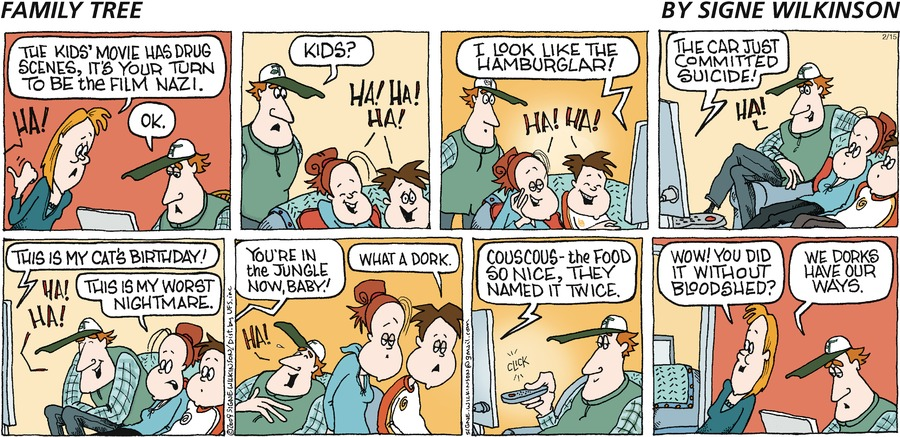 Family Tree for Feb 10, 2013 Comic Strip