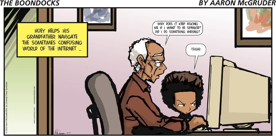 The Boondocks for Apr 17, 2005 Comic Strip