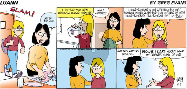 Luann - Sunday November 21, 1999 Comic Strip