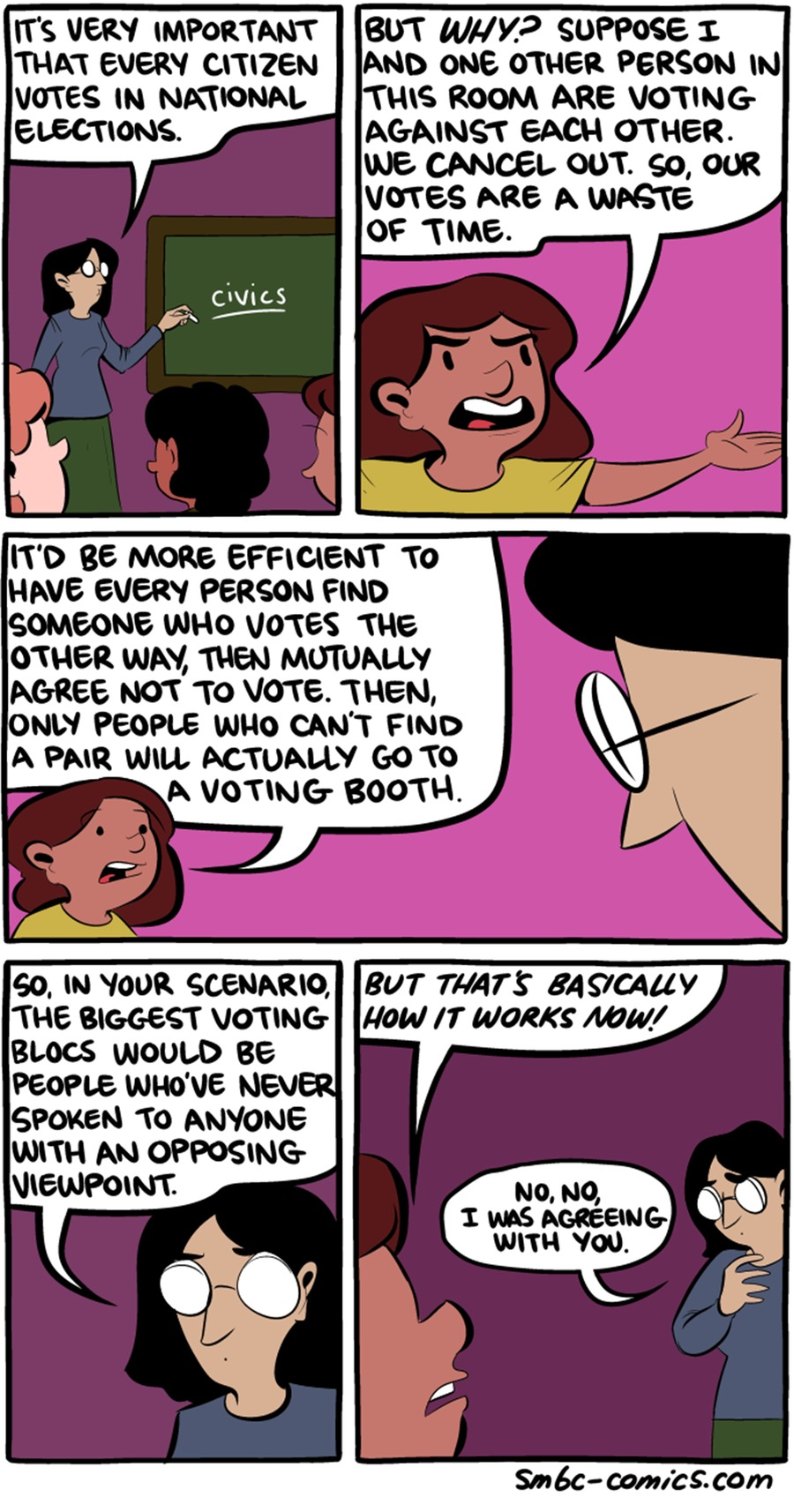Saturday Morning Breakfast Cereal Comic Strip for February 21, 2016