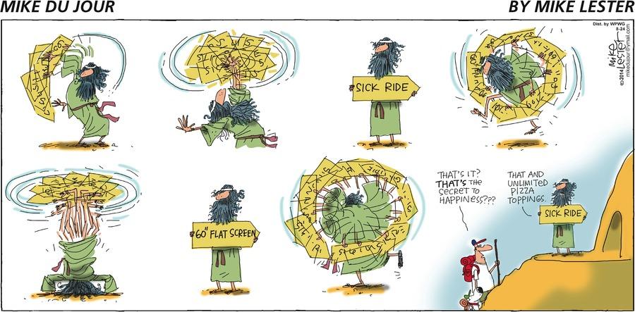 Mike du Jour for Aug 24, 2014 Comic Strip