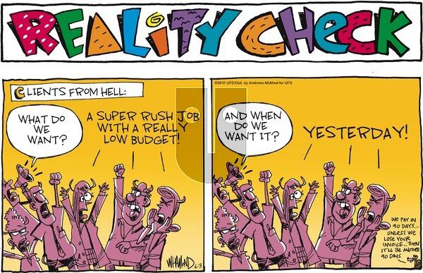 Reality Check on Sunday June 3, 2018 Comic Strip