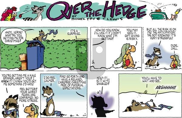 Over the Hedge on Sunday November 29, 2015 Comic Strip