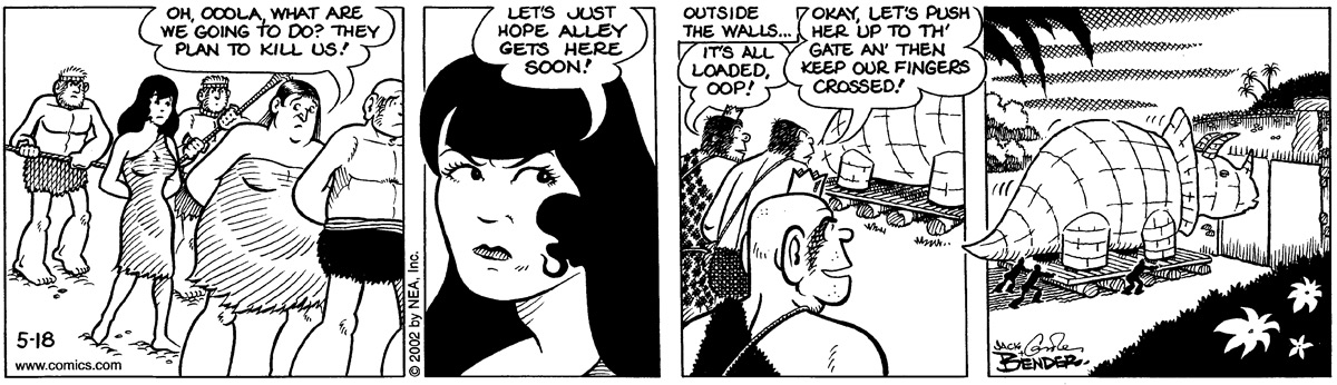 Alley Oop for May 18, 2002 Comic Strip