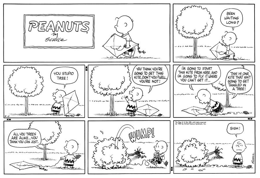 Peanuts Comic Strip for April 11, 1965