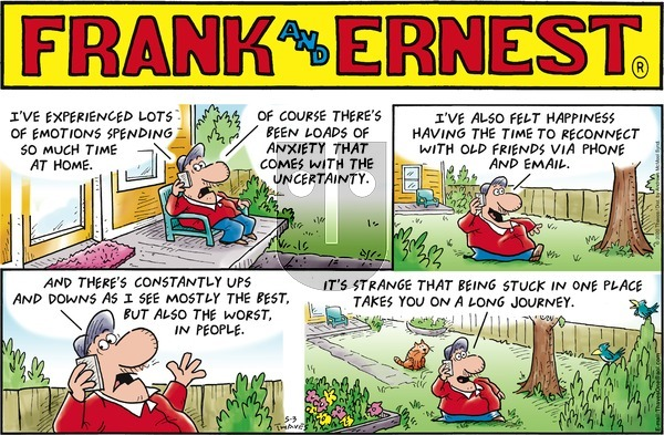 Frank and Ernest on Sunday May 3, 2020 Comic Strip