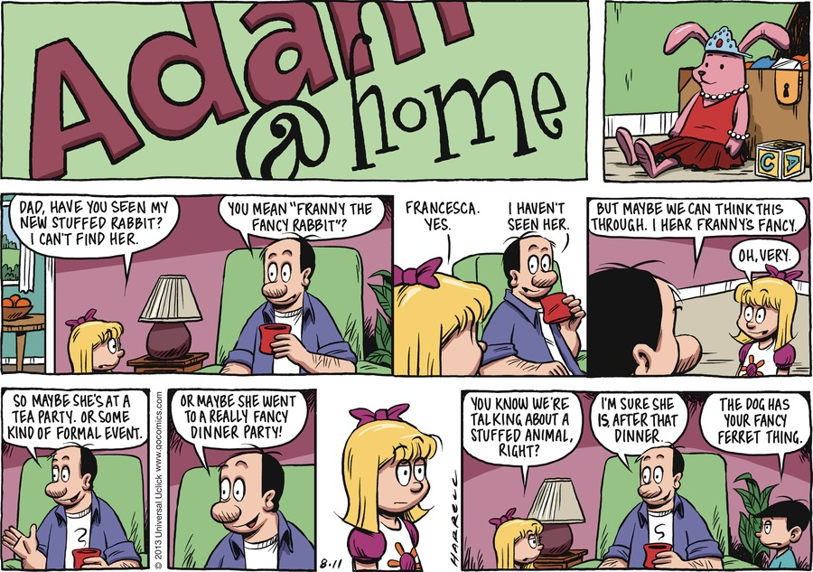 Adam@Home for Aug 11, 2013 Comic Strip