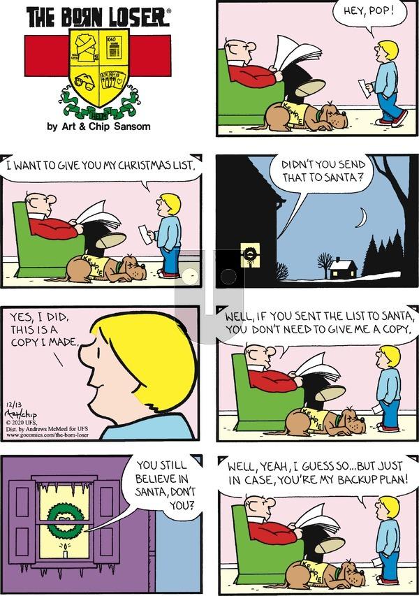 The Born Loser on Sunday December 13, 2020 Comic Strip