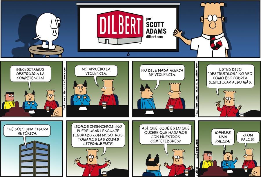 Dilbert en Español by Scott Adams on Sun, 28 Feb 2021