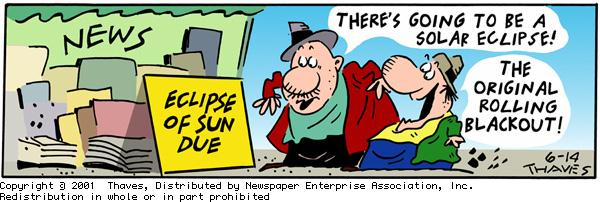 Frank and Ernest for Jun 14, 2001 Comic Strip