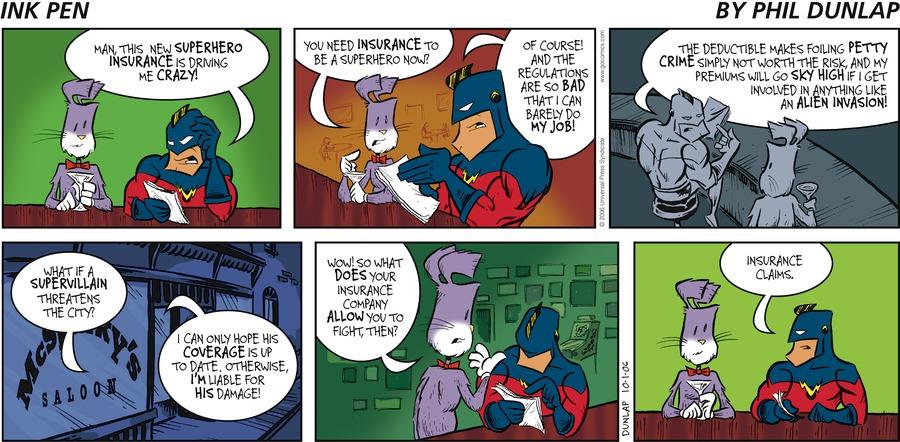 Ink Pen Comic Strip for October 01, 2006