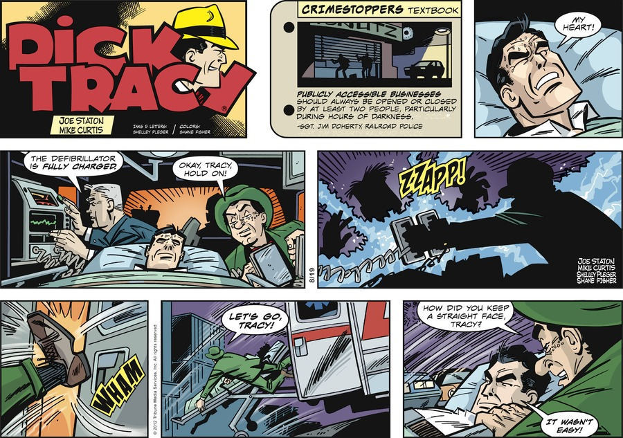 Dick Tracy Comic Strip for August 19, 2012