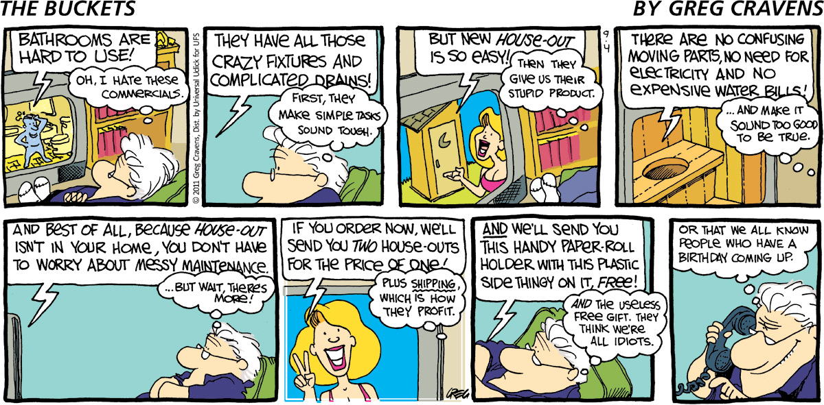 The Buckets for Sep 4, 2011 Comic Strip