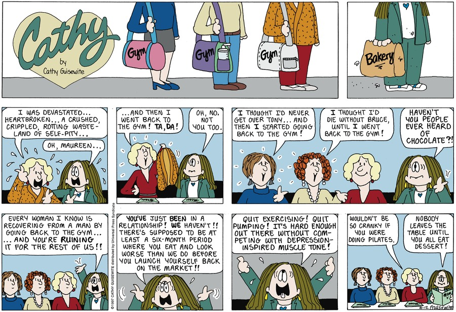 Cathy for Oct 12, 1997 Comic Strip