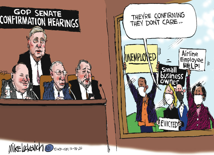 Mike Luckovich Comic Strip for October 18, 2020
