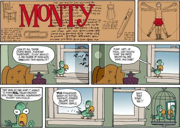 Monty on Sunday January 24, 2016 Comic Strip