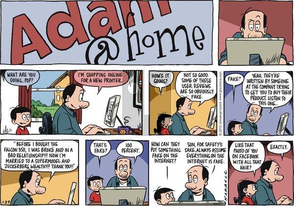 Adam@Home on Sunday January 29, 2012 Comic Strip