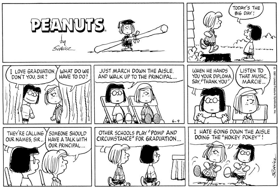 Peanuts Comic Strip for June 09, 1991