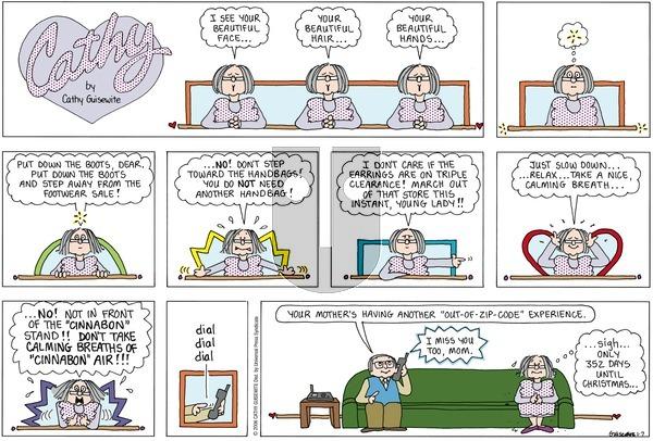 Cathy Classics on Sunday January 7, 2007 Comic Strip