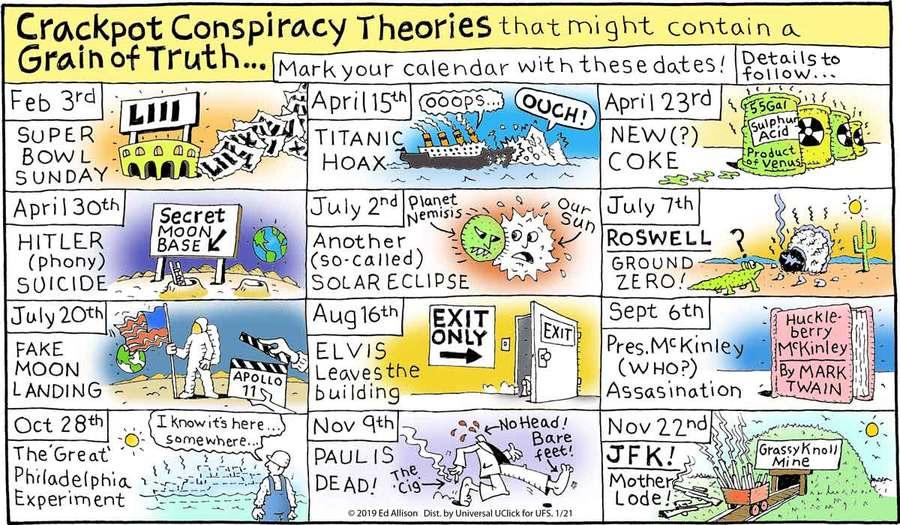 Unstrange Phenomena Comic Strip for January 21, 2019