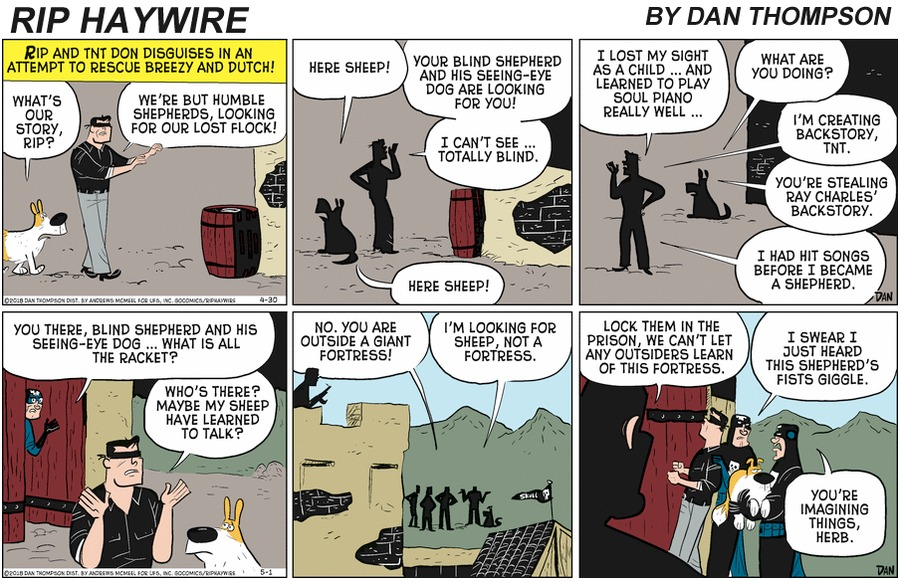 Rip Haywire Comic Strip for August 23, 2020