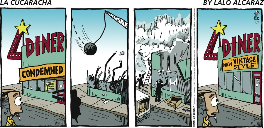 La Cucaracha Comic Strip for April 07, 2013