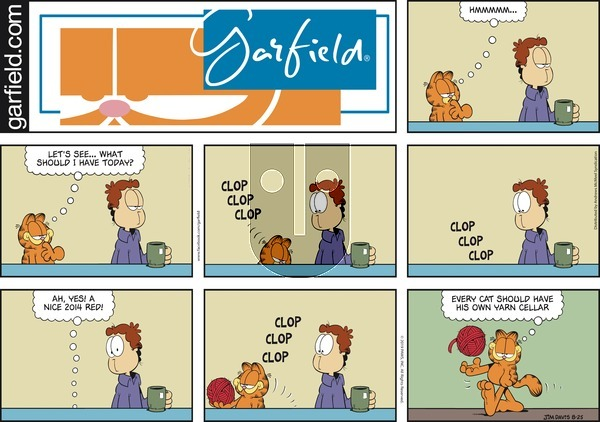 Garfield - Sunday August 25, 2019 Comic Strip