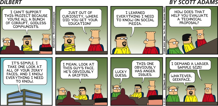 Reading Faces - Dilbert by Scott Adams