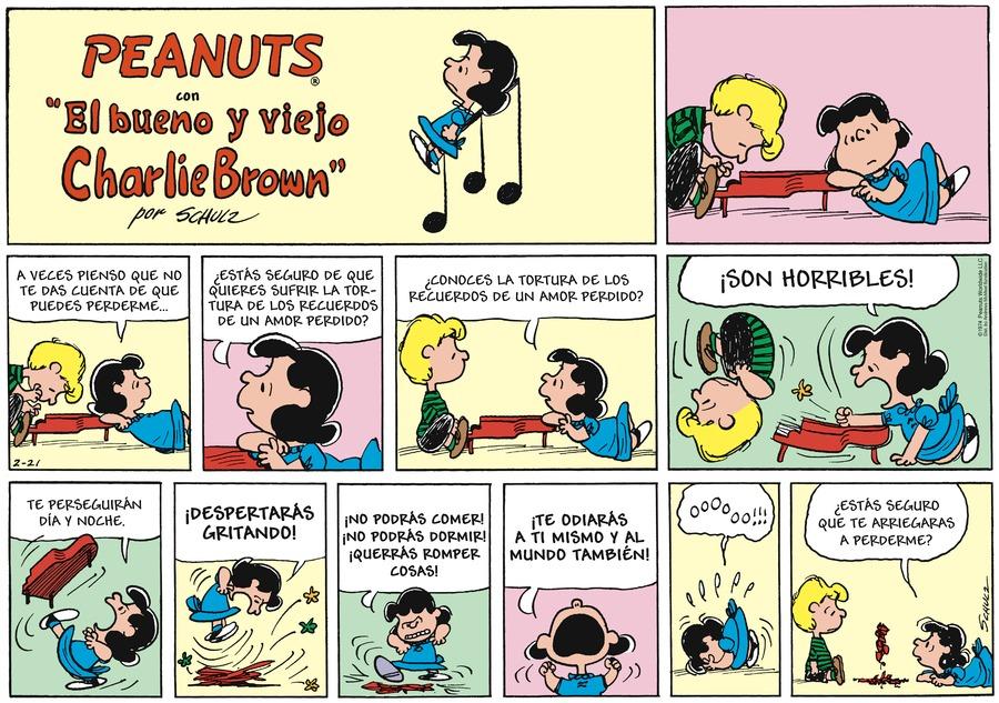 Snoopy en Español Comic Strip for February 21, 2021