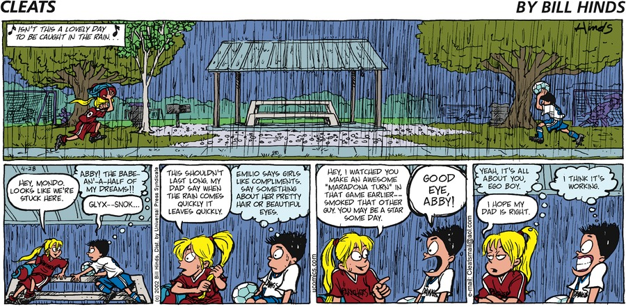 Cleats Comic Strip for April 28, 2002