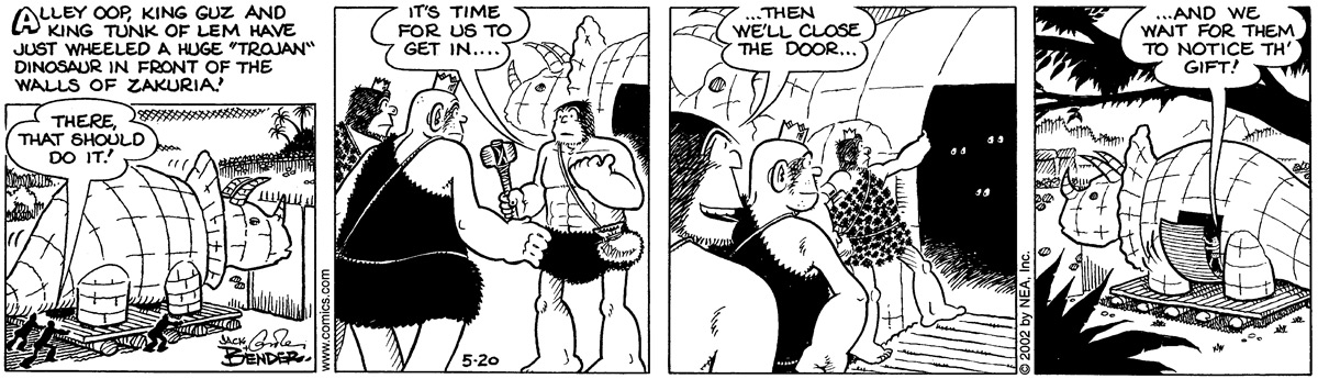 Alley Oop for May 20, 2002 Comic Strip