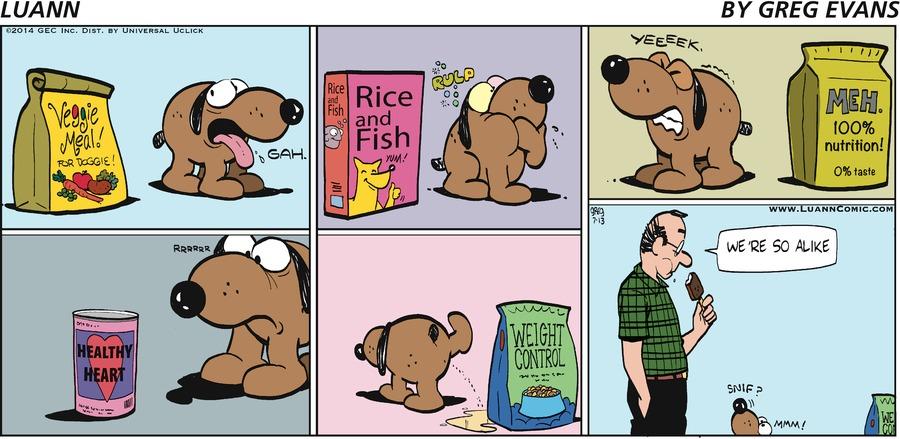 Luann Comic Strip for July 13, 2014