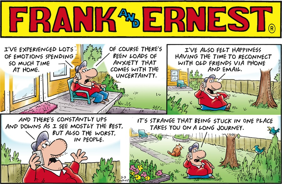 Frank and Ernest Comic Strip for May 03, 2020
