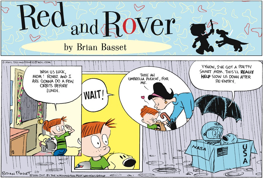 Red and Rover Comic Strip for March 04, 2001