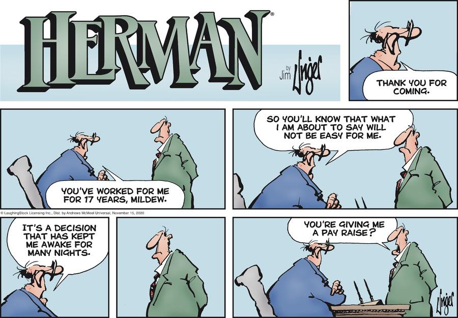 Herman Comic Strip for November 15, 2020