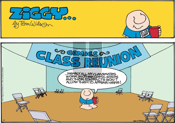 Ziggy on Sunday April 2, 2017 Comic Strip