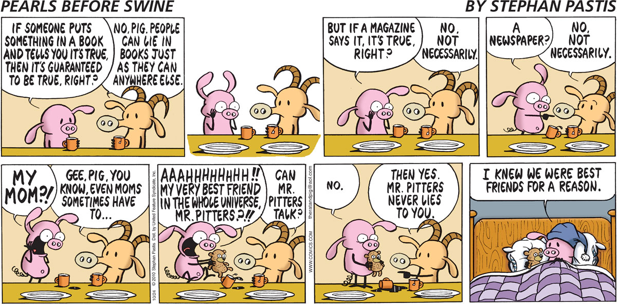 Pearls Before Swine Comic Strip for October 24, 2010